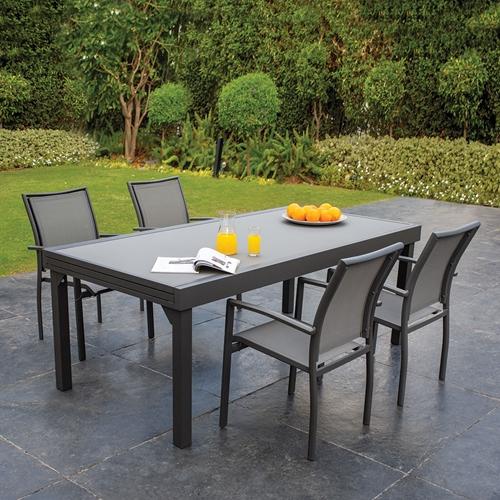 מערכת גן  מפוארת Bondi 3200 עם 4 כיסאות צבע אבן