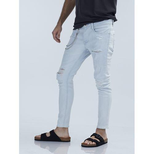 MARTIN ג'ינס סקיני בהיר עם קרעים