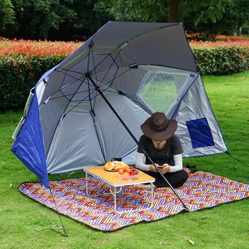 שמשיית-אוהל לחוף ולפיקניק קלה לניוד בנשיאה