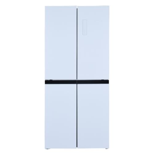 מקרר 4 דלתות זכוכית לבנה HAIER דגם HRF-4482FW