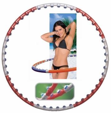 חישוק הולה הופ מקצועי עם כדורי עיסוי מסיליקון