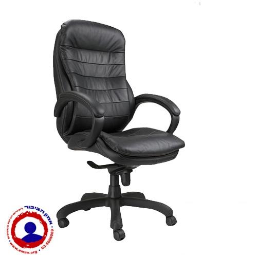 כיסא מנהלים יוקרתי ומפואר עם מנגנון ברך סינכרוני