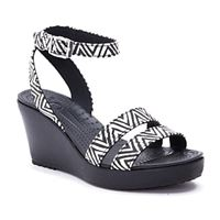 סנדלי עקב נשים Crocs קרוקס דגם Leigh Graphic Wedge