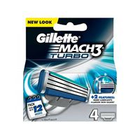 סט 4 סכיני Gillette Mach3 Turbo ג'ילט
