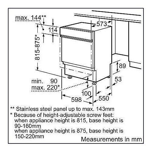 בלתי רגיל מדיח כלים רחב חצי אינטגרלי דגם SN55N538IL 185730- P1000 DB-39