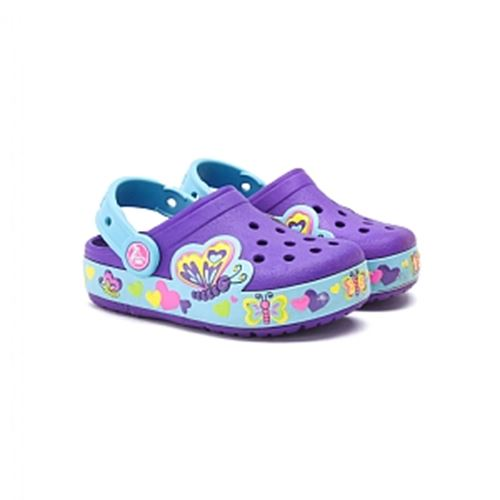 כפכפי נוחות ילדות Crocs קרוקס דגם CrocsLight Busy Bee