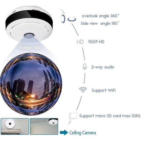 מודיעין מצלמת IP אלחוטית פנורמית 360 מעלות באיכות HD 244027- P1000 SS-68