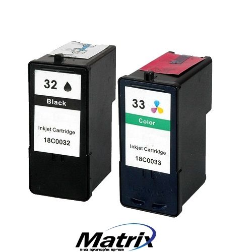 סט דיו תואם LEXMARK  lex3233 matrix