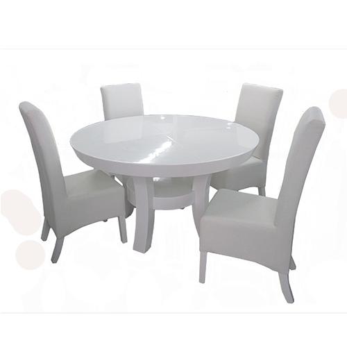 מצטיין פינת אוכל עגולה הכוללת שולחן ו-4 כסאות גם אביר 190585- P1000 HJ-73