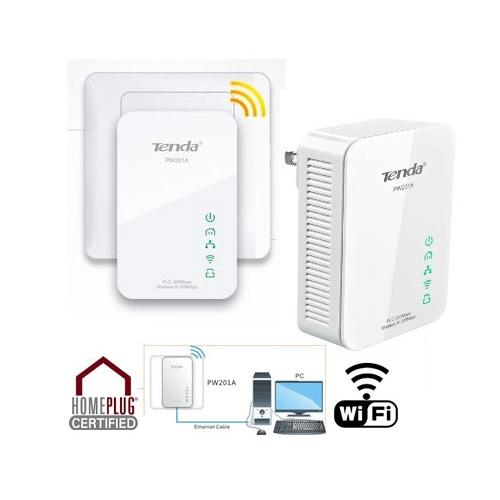 להפליא מתאם רשת על חשמל PLC משולב עם חיבור אלחוטי WIFIמתאם רשת על חשמל NT-64