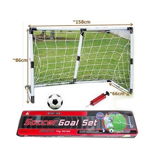 זוג שערי כדורגל 1.20 מטר כולל כדור כדורגל ומשאבה