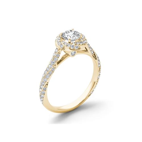 פנטסטי טבעת אירוסין מעוצבת זהב 14K משובצת יהלומיםטבעת אירוסין מעוצבת זהב FQ-78