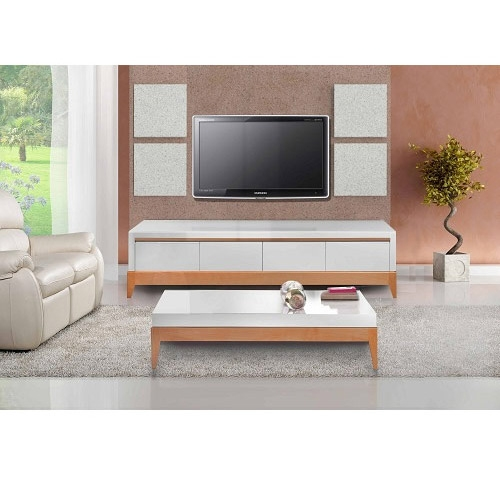 מזנון ושולחן coffe table wood + tv stand wood SIRS