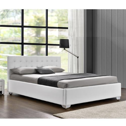 להפליא מיטה זוגית מעוצבת בריפוד דמוי עור עם ארגז מצעיםמיטה זוגית מעוצבת FY-85