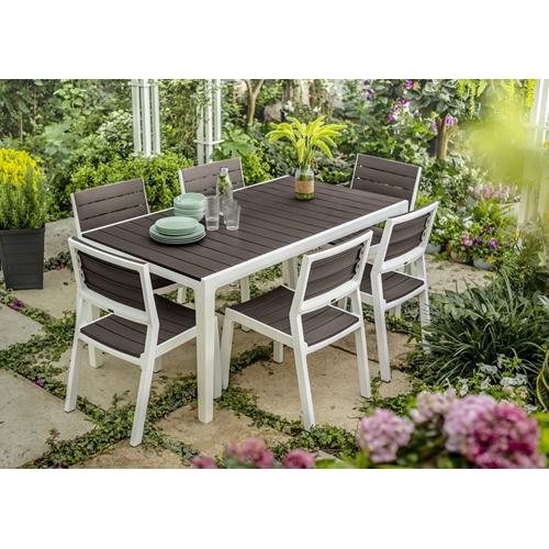 שונות פינת אוכל לגינה כולל 6 כיסאות עם מסעדי ידיים KETERפינת אוכל לגינה UJ-79
