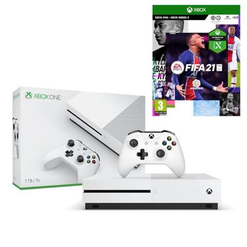 קונסולת Xbox One S 1TB עם משחק FIFA 21