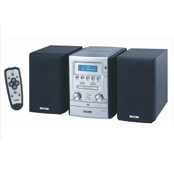 מאוד מערכת סטריאו MP3 כולל שלט GRAETZ מתצוגהמערכת סטריאו MP3 כולל שלט AS-16